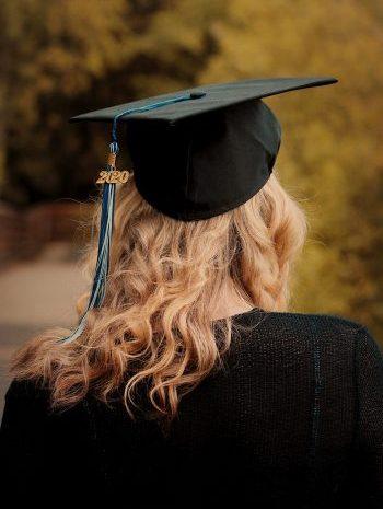 graduate 2020 wearing a cap